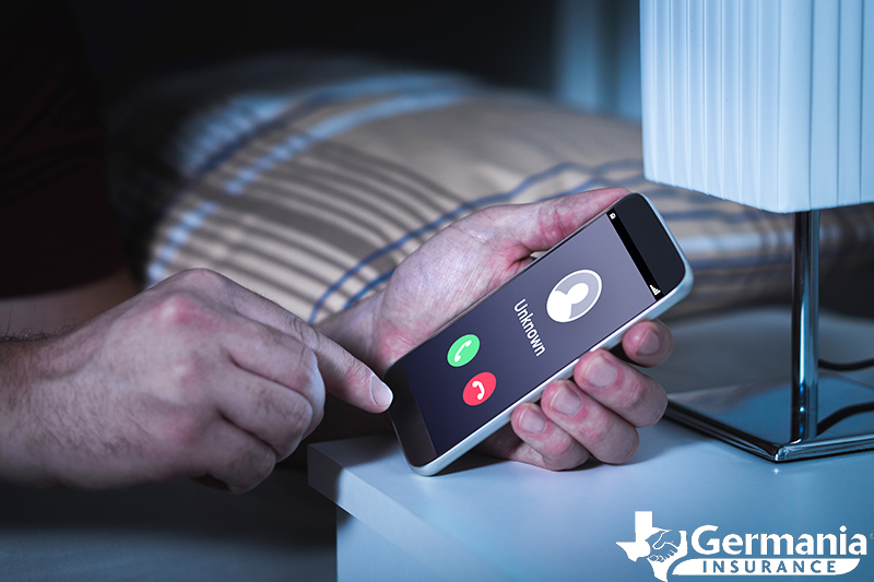 A person avoiding a robocall scam from an unknown number.
