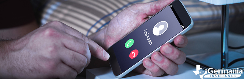 A scam involving an incoming call from an unknown phone number