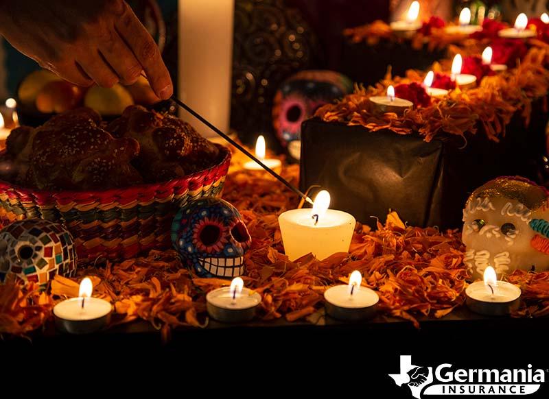 An altar, ofrenda, for Dia de los Muertos, Day of the Dead