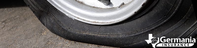 A flat spare tire