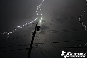 Lightning striking a transformer causing a power outage