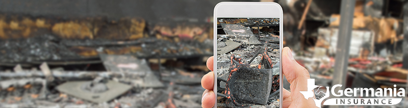 Using  mobile app technology to handle a property damage insurance claim.