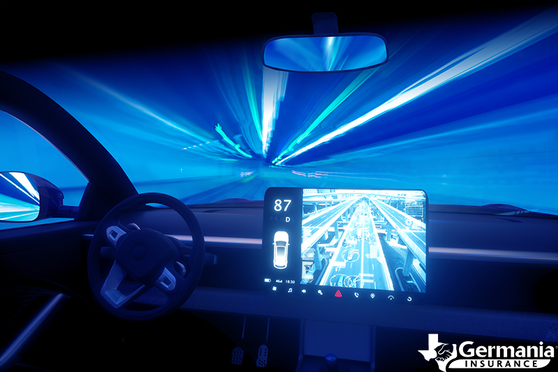 A digital screen in a vehicle of the future